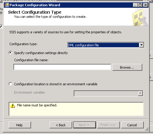 Relative path to config file in BIDS/SSIS 2008 package