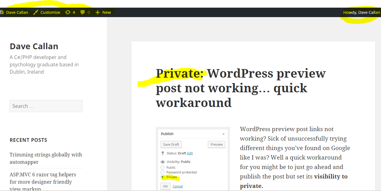 wordpress-private-post