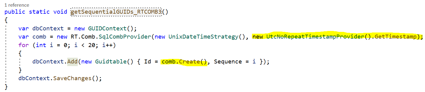 Creating sequential GUIDs in .net