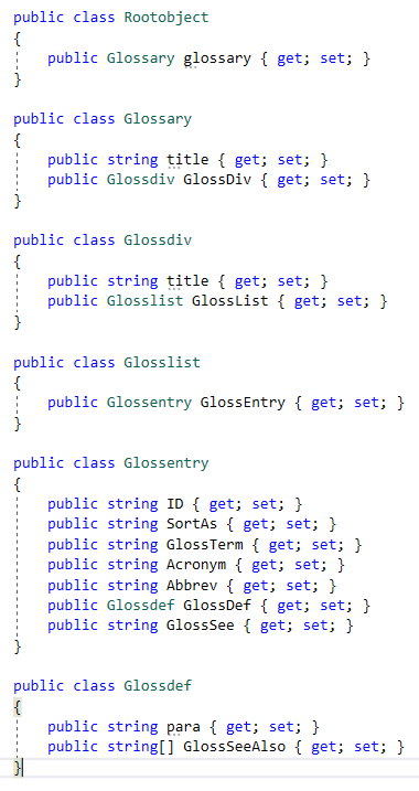 Visual Studio generated classes