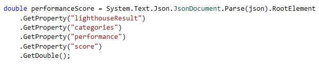 Use GetProperty to read JSON properties