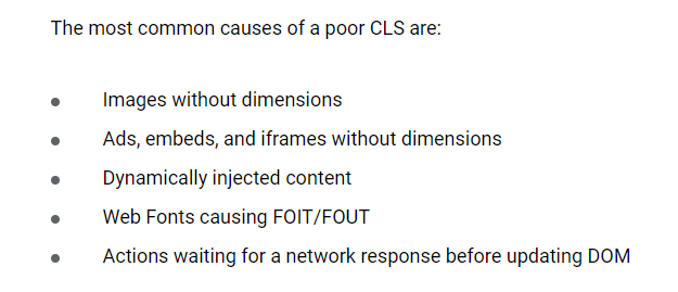 What affects CLS