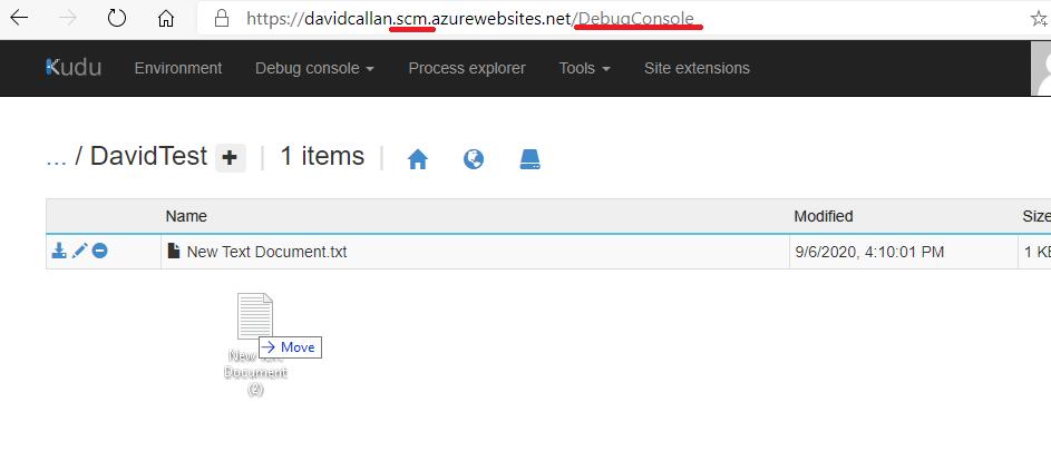 Upload files to Azure App Service