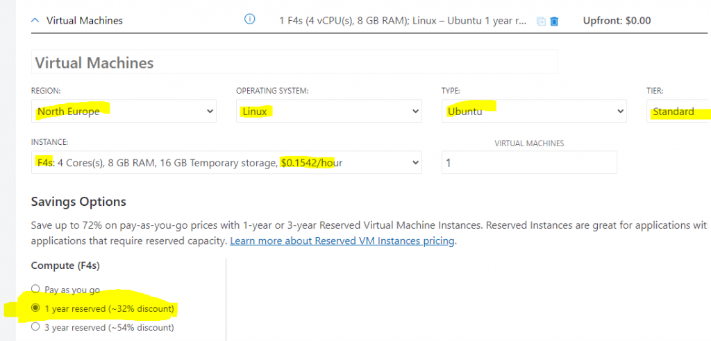 Azure pricing API Reserved Pricing API