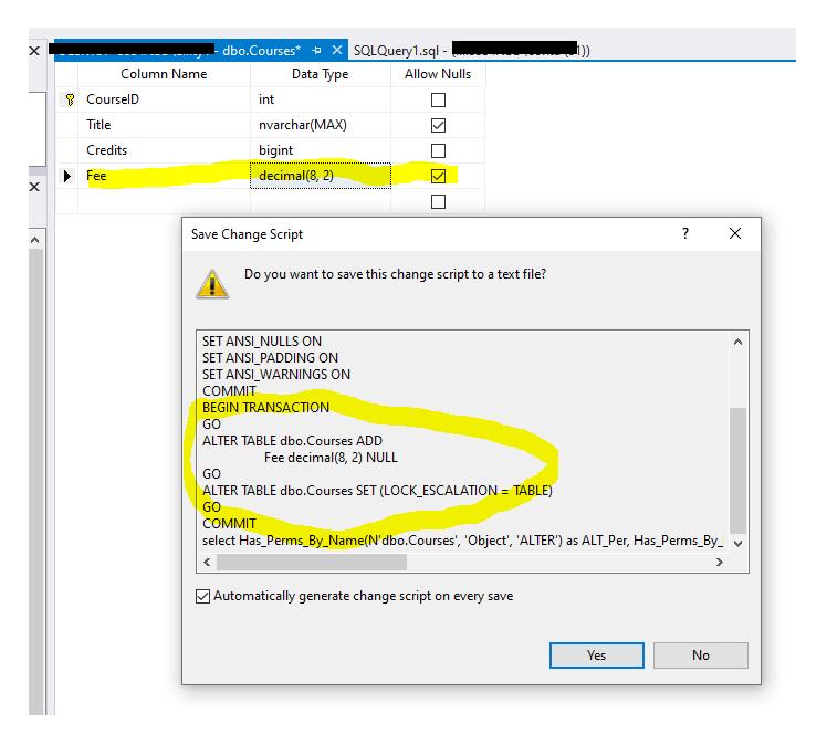Create change scripts in SQL Server Management Studio